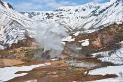 Долина Гейзеров в зимнее время