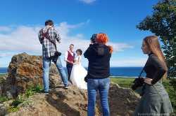 Фотосессия на скале
